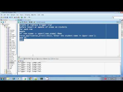 Oracle Row level Triggers Example Programs Session 5