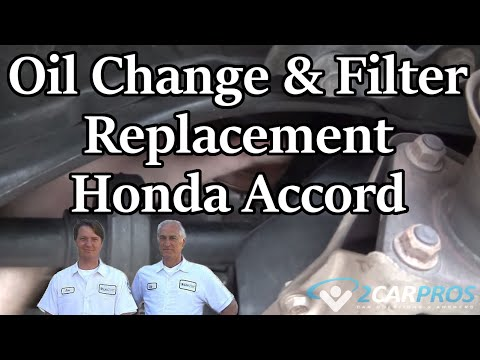 Oil Change & Filter Replacement Honda Accord 1997-2002