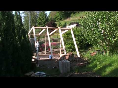 building a green house  wood frame
