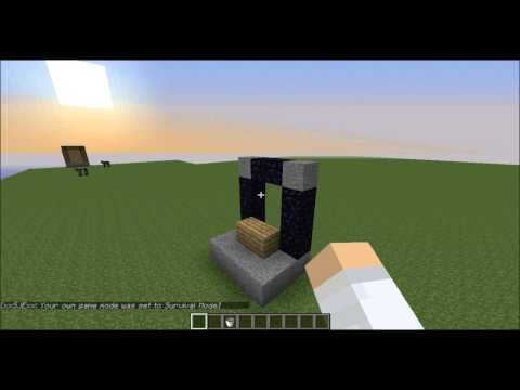 Minecraft | Tutorial | How To Light A Nether Portal Without Flint And Steel
