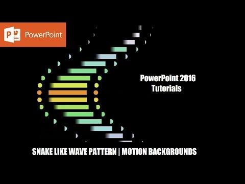 Snake Like Wave Pattern Vol. 1 | Motion Background in Microsoft PowerPoint 2016 Tutorial