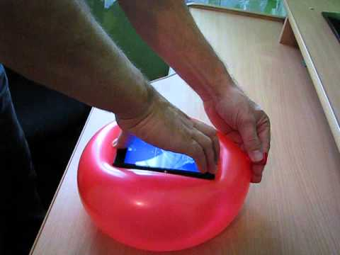 Jak zrobić Etui z balona na telefon How to make a case with a balloon on the phone