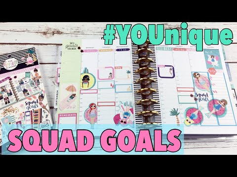 PLAN WITH ME #YOUNIQUE SQUAD GOALS - THE HAPPY PLANNER | CLASSIC HAPPY PLANNER PWM MAY 14 - MAY 20