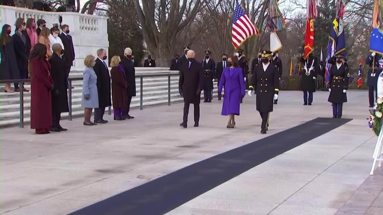 Biden joined by former presidents Obama, Bush, Clinton at wreath laying ceremony