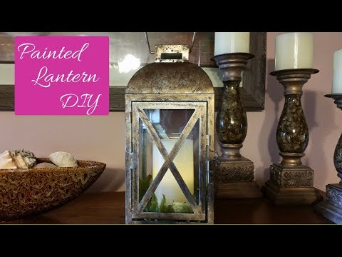 $9.00 Painted Farmhouse Lantern Diy Easy