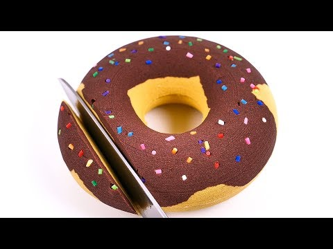 DIY How to Make Kinetic Sand Chocolate Donuts Cutting Learn Colors Clay Glitter Slime for kids