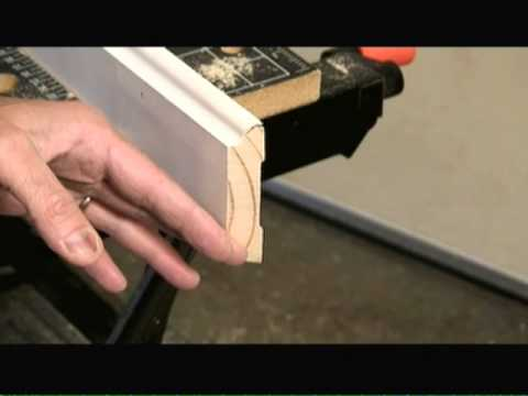 How to Cope Inside Corner with Coping Saw Video