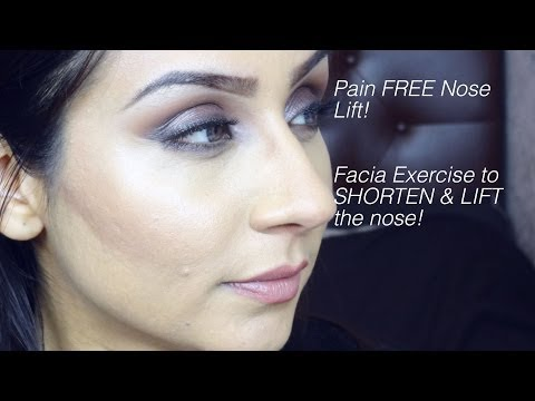 Pain FREE Shorten & lift your nose w facial exercise || Raji Osahn