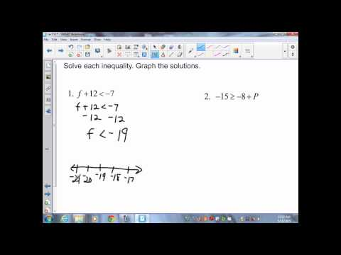sec2 9 Pre Algebra Solving One Step Equations and Inequalities