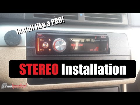 How to Install a Car Stereo / Car Deck / Head Unit Installation (with Butt Connectors)