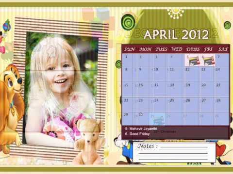 Personalised Photo Calendar (best new year 2012 photo gift)