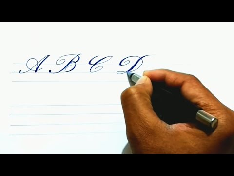 A to Z capital Cursive and Calligraphy writing