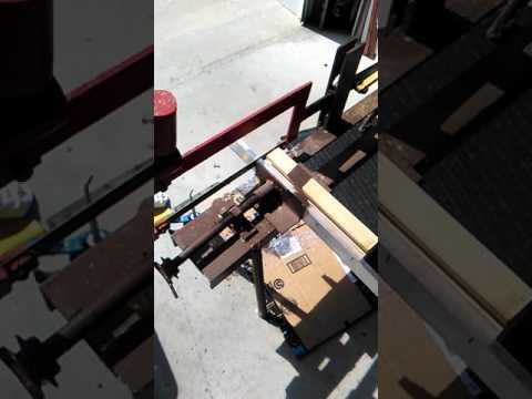 Using refurbished mechanical hack saw to cut aluminum bars