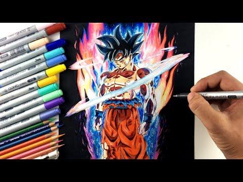 Drawing Goku NEW FORM Ultra Instinct   Limit Breaker