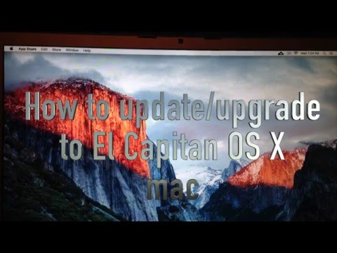 How to Update / Upgrade to El Capitan OS X 10.11 Mac for FREE