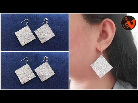 DIY / How to make earrings at home / Tutorial / Best out of waste