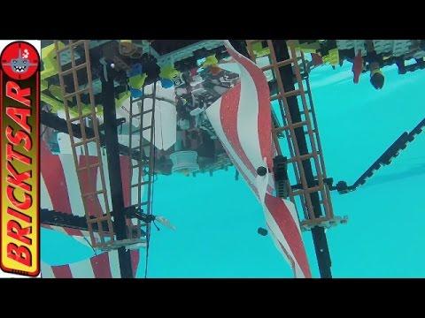 LEGO SHIP SEA TEST - 6285 Black Seas Barracuda vs Metal Beard's Sea Cow