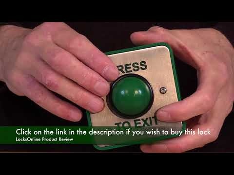 High Impact Green Push to Exit button for access control   LocksOnline Product Review