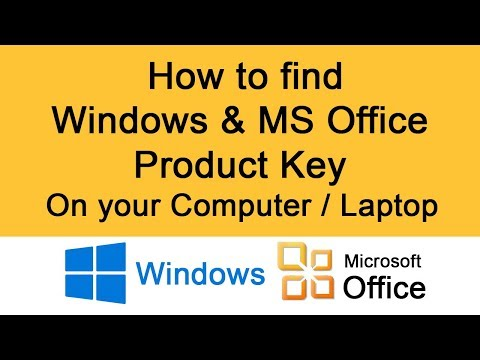 Product key finder | How to find windows and MS Office product key on computer