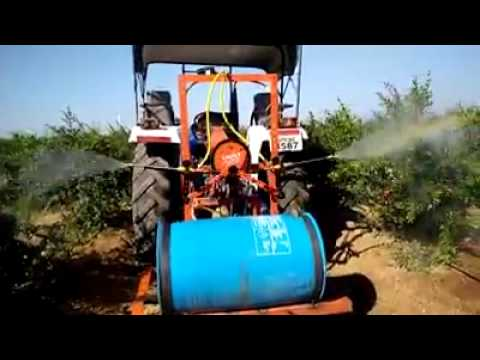 Spray Machine connected with Tracktor दवा छिड़कने वाली ट्रैक्टर से जुड़ी मशीन dava chiktane wali nay