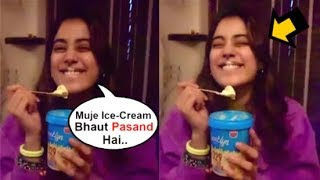 Jhanvi Kapoor's CUTE Video Eating Ice-Cream Like A KID When At Home