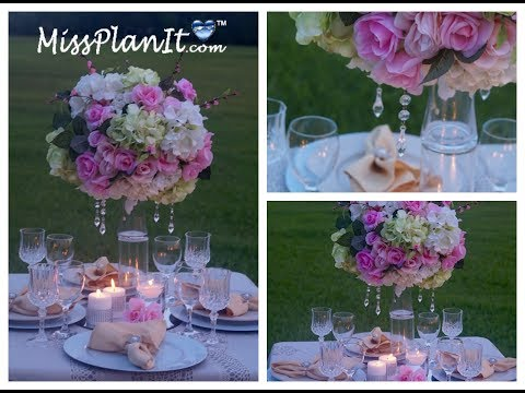 Tall Elegant Wedding Centerpiece / DIY / How To Create A Centerpiece Fit For A Princess