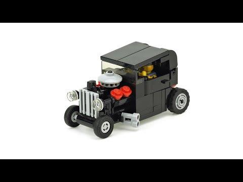 LEGO Hot Rod & Car Trailer. MOC Building Instructions