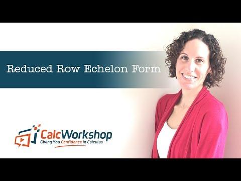 Reduced Row Echelon Form - #1 Skill in Linear Algebra