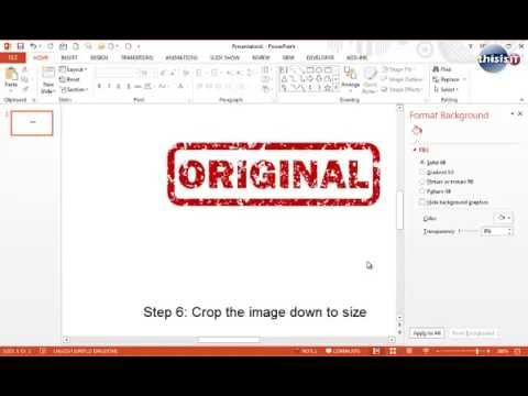 How to create a Rubber Ink Stamp Effect in PowerPoint