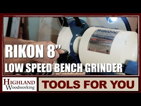 Rikon 8 Inch Professional Low Speed Bench Grinder Tool Video
