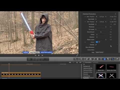 FanFilmFX Saber Blade Tutorial for Final Cut Pro X