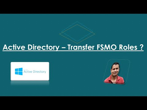 Transfer FSMO roles in Active Directory