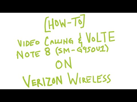 [HOW-TO] Enable Video Calling & VoLTE Unlocked Note 8 SM-G950U1 on Verizon Wireless