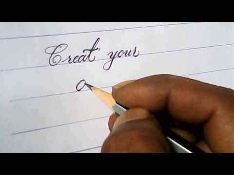 Pencil calligraphy for beginners | pencil calligraphy tutorials | mazic writer