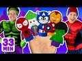 Superheroes Finger Family And More Finger Family Songs Superhero Finger Family Collection