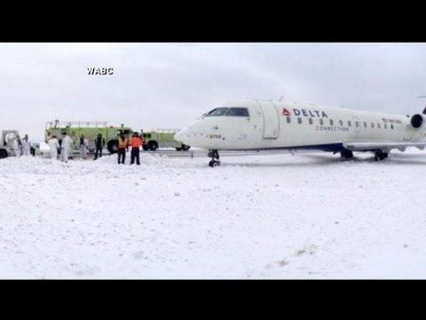 Jets Slides Off Runway at JFK Airport