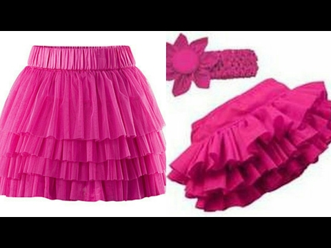Ruffle skirt DIY| how to make ruffle skirt step by step tutorial