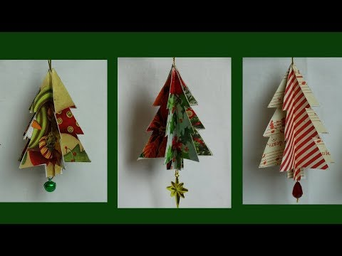 Recycled Christmas Card Tree Ornament- with yoyomax12