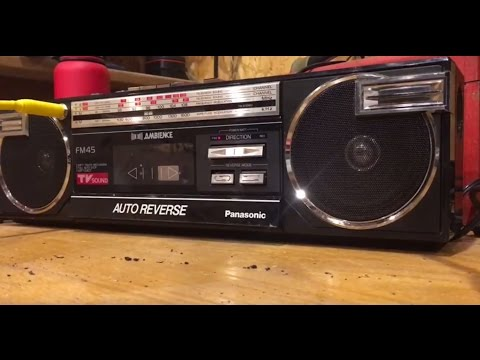 Homemade Guitar Amplifier From A Vintage Boombox Tape Player