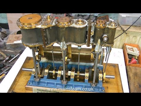 RENOVATING A LARGE MODEL TRIPLE EXPANSION STEAM ENGINE - PART #1
