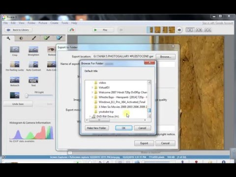 How to export and watermark pictures in PICASA 3