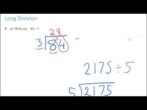 New Spec GCSE Maths: Long Division