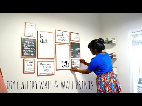 DIY   Affordable Gallery Wall & Make Your Own Wall Prints