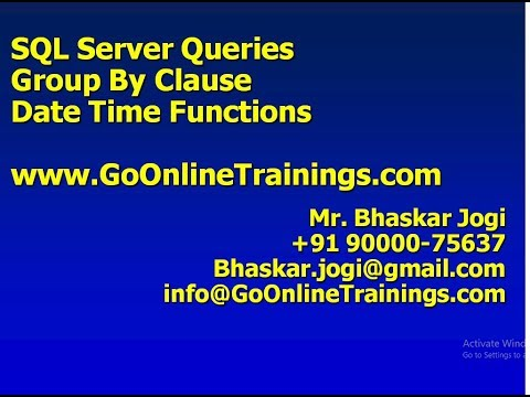 03 SQL Server Queries - Group By Clause and Date Time Functions