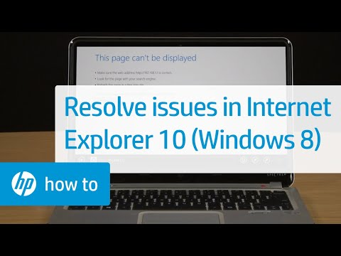 Resolving Issues in Internet Explorer 10 (Windows 8)