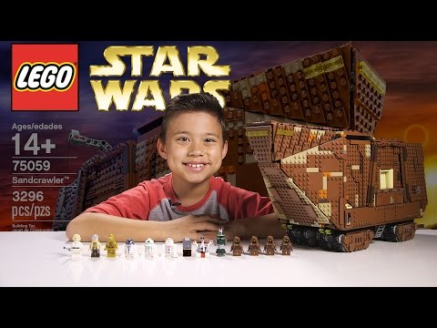 LEGO SANDCRAWLER - LEGO Star Wars UCS Set 75059 Time-lapse, Stop Motion, Unboxing & Review