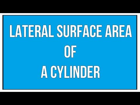 Lateral Surface Area Of A Cylinder / Maths Mensuration