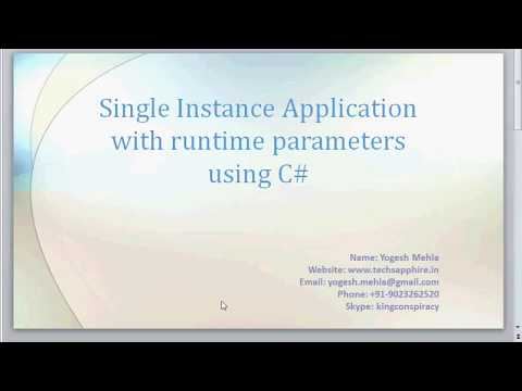 Passing parameter to already running application c#