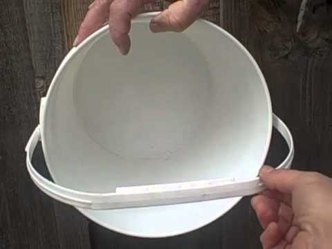 How to build chicken nest boxes out of recycle 20 litre pail