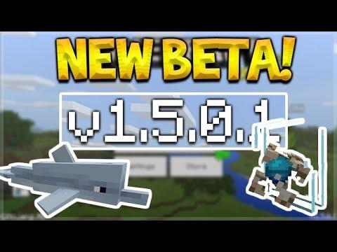 NEW MCPE 1.5.0.1 BETA! Minecraft Pocket Edition - NEW Conduit Underwater Beacon!